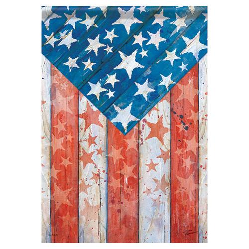 Patriotic Banner Flag - Rustic Pride