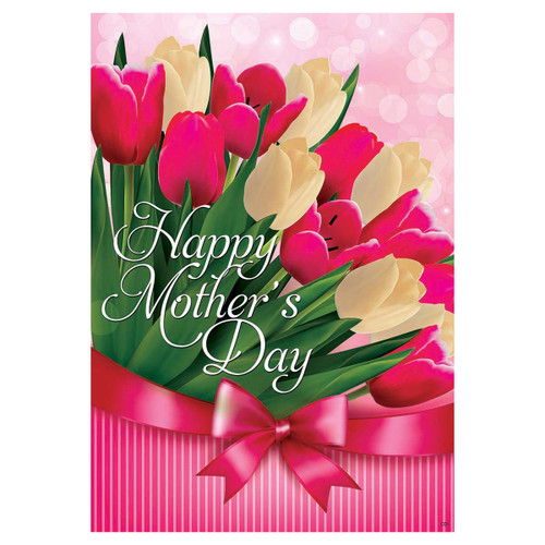 Mother's Day Banner Flag - Tulips for Mom