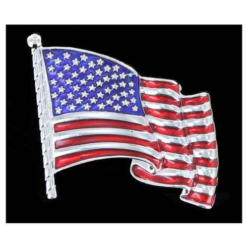 Waving Old Glory Flag Pin