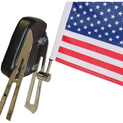 "Rear Motorcycle Flag Mount - 1/4"" Sissy Bar"