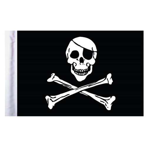 """Pirate Motorcycle Flag - 6"""" x 9"""""""