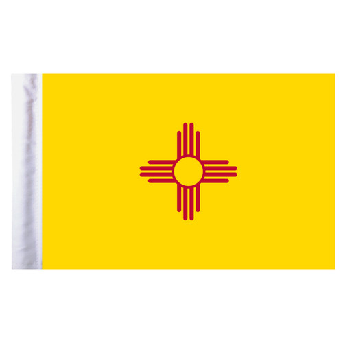 """New Mexico Motorcycle Flag - 6"""" x 9"""""""