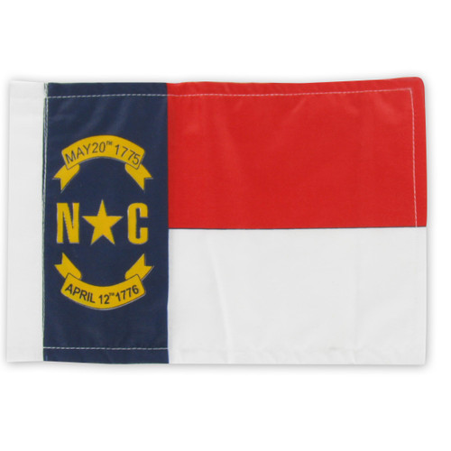 "North Carolina Motorcycle Flag - 6"" x 9"""