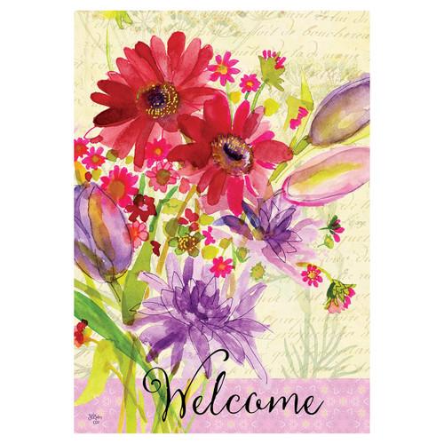 Welcome Banner Flag - Summer Bouquet