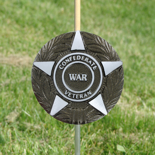 Civil War Confederate Veteran Grave Marker - Aluminum