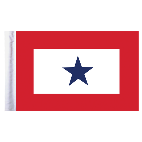"Blue Star Service Motorcycle Flag - 6"" x 9"""