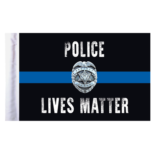"""Police Lives Matter Motorcycle Flag - 6"""" x 9"""""""
