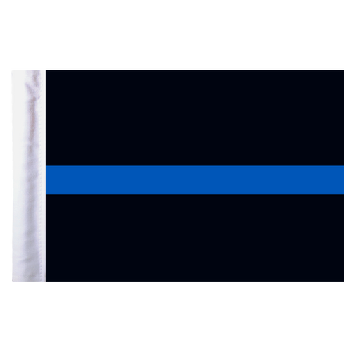 "Thin Blue Line Motorcycle Flag - 6"" x 9"""