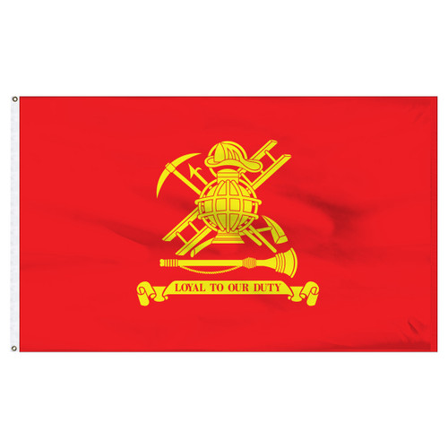 Firefighter Flag 3ft x 5ft Nylon - Loyal to Our Duty