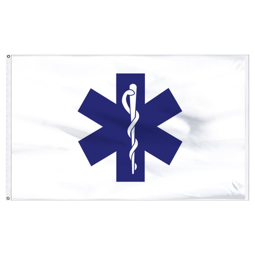 Star of Life Flag 3ft x 5ft Nylon