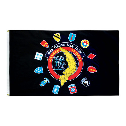Vietnam Insignia 3ft x 5ft Printed Polyester Flag