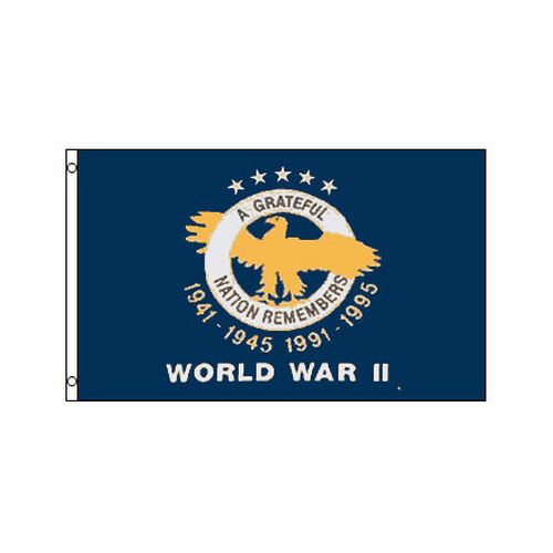 World War II Veterans 3ft x 5ft Printed Polyester Flag