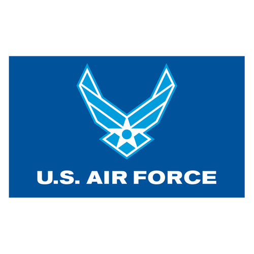 Air Force Logo Flag 3ft x5ft Super Knit Polyester