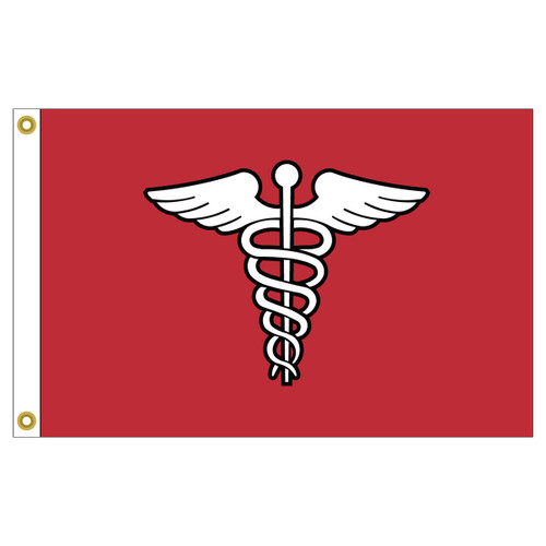 US Yacht Club Surgeon 12in x 18in Nylon Flag