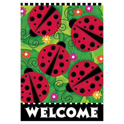 Welcome Banner Flag - Ladybugs