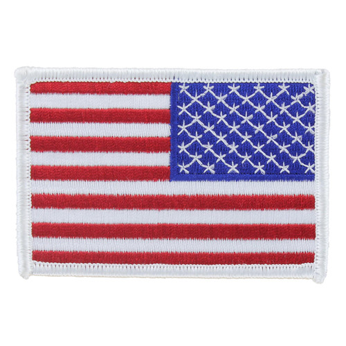 American Flag Patch - White Border - Right Star Field