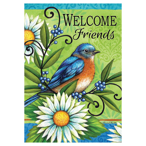 Welcome Banner Flag - Welcome Bluebird