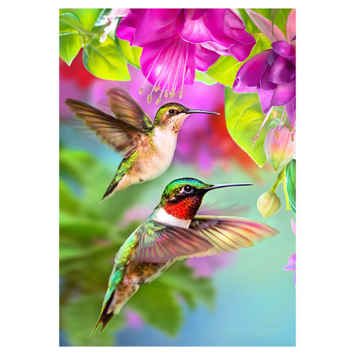 Spring Banner Flag - Hummer's Flight