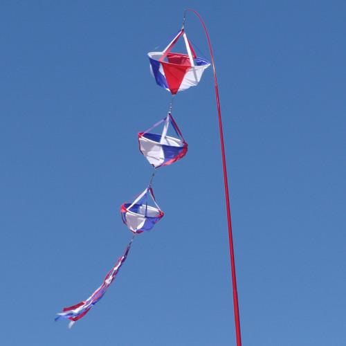 Patriotic Spinning Wind Decoration - Large