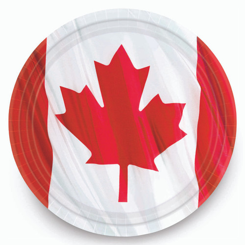 "Canadian Plates - 9"" - Package of 10"