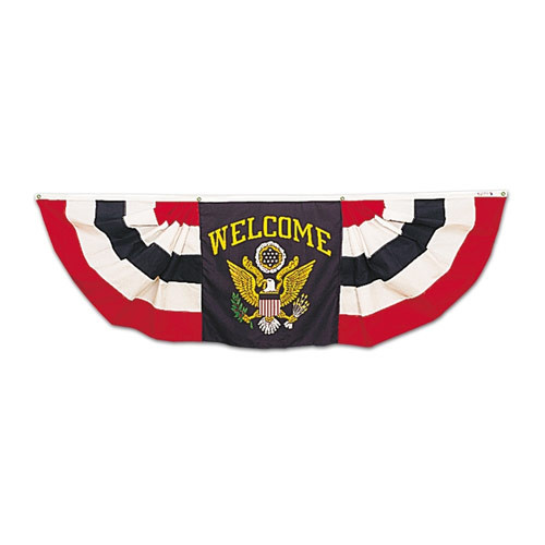 Welcome Pleated Fan Bunting