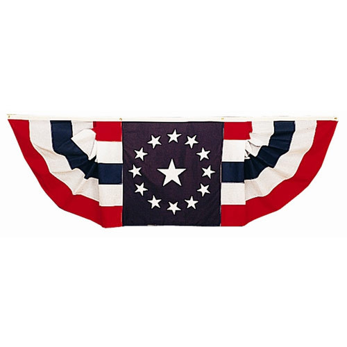 Patriotic Pleated Fan Bunting- Nylon