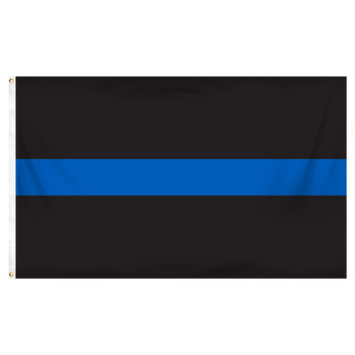 Thin Blue Line Flag 3ft x 5ft Printed Polyester