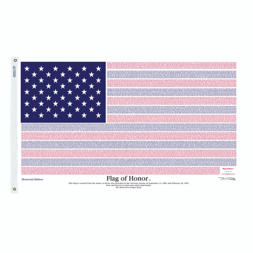 Flag of Honor Memorial Edition 3ft x 5ft Poly Cotton
