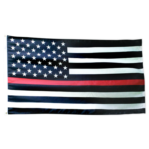 Thin Red Line American Flag 3ft x 5ft Nylon