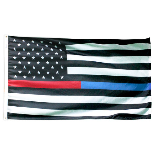 Thin Red & Blue Line American Flag 3ft x 5ft Nylon