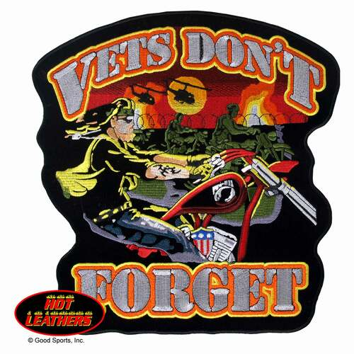 Hot Leathers Patches Vets Dont Forget Patch
