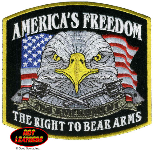Hot Leathers Patches Americans Freedom Patch