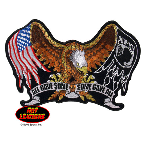 Hot Leathers Patches All Gave Some Some Gave All Eagle Patch