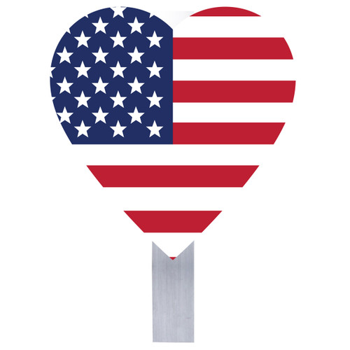 Flag Heart Grave Flag Holder
