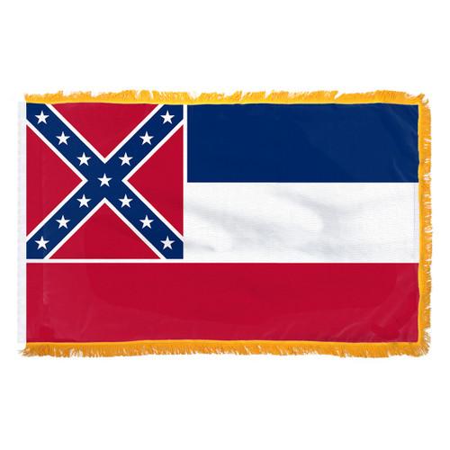 Mississippi 3ft x 5ft Indoor Cotton Flag - Pole Hem & Fringe