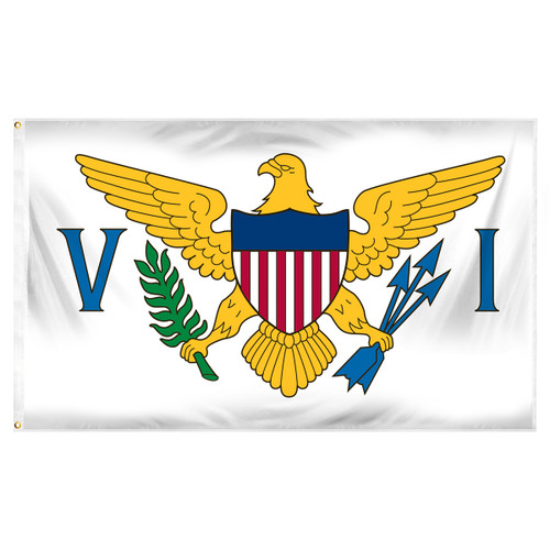 US Virgin Islands Flag 3ft x 5ft Printed Polyester