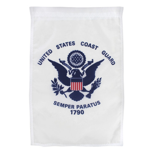 "Coast Guard Garden Flag 12"" x 18"" Nylon"