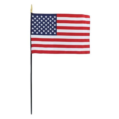 12in x 18in American Flag - Black Staff