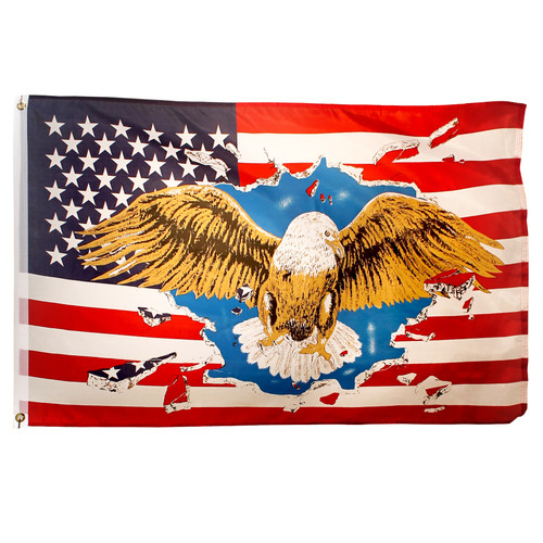 Eagle USA Flag 3ft x 5ft Printed Polyester