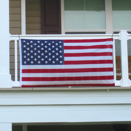 Balcony Mounted American Flag 3ft x 5ft Polycotton