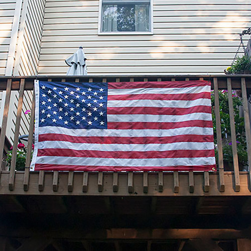 Balcony Mounted American Flag 3ft x 5ft Nylon