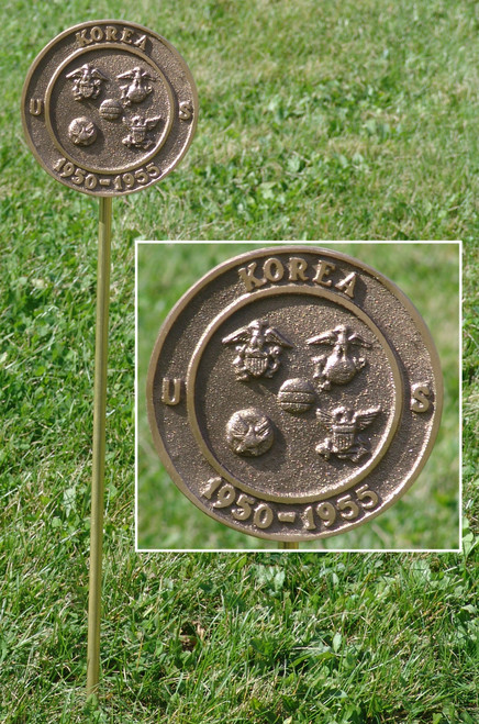 Korean War Veteran Grave Marker - in Cast Bronze