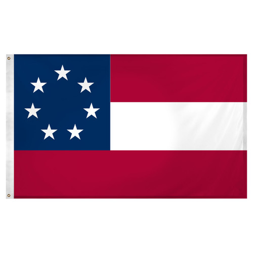 Confederate 1st National 3ft x 5ft Super Knit Polyester flag