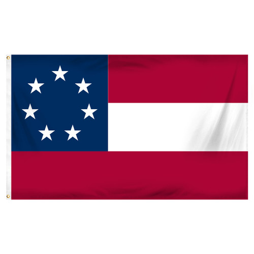 Confederate 1st National 3ft x 5ft Printed Polyester Flag