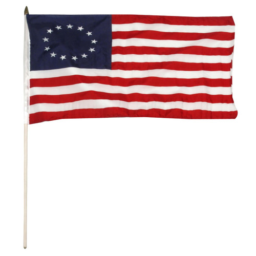 Betsy Ross stick flag 12x18 inch