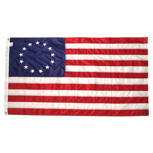 Betsy Ross Flag 5ft x 8ft Nylon - Embroidered Stars