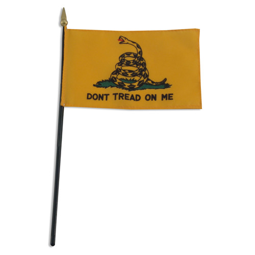 Gadsden Flag 4 x 6 Inch - Dont Tread On Me