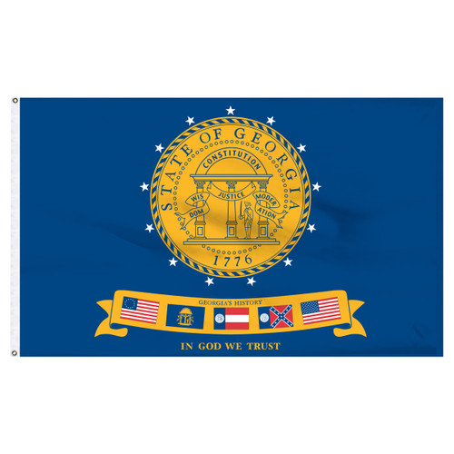 Georgia 6x10ft Historic 2001 Nylon Flag