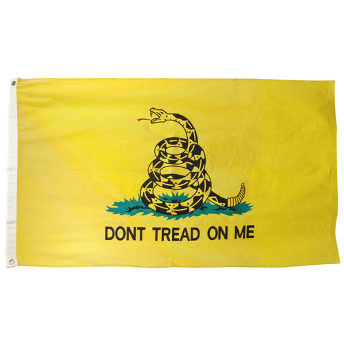 Gadsden 3ft x 5ft Sewn Cotton Flag - Dont Tread On Me