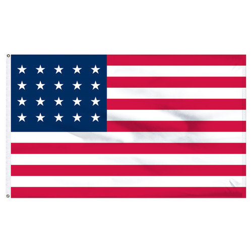 USA 20 Star 3ftx5ft Nylon flag